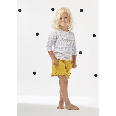 little label Confetti raglan shirt 'bonjour'