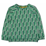 Baba-Babywear Jacquard sweater 'green stripes'
