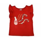 Baba-Babywear Rode ruffle T-shirt 'bird'
