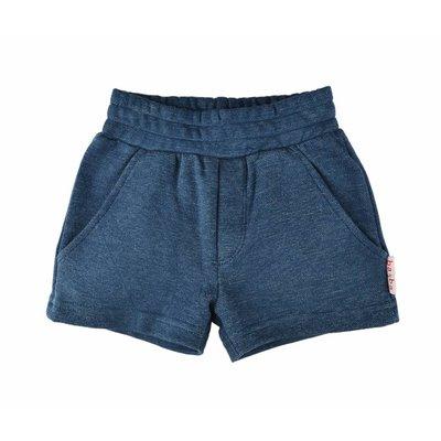 Baba-Babywear Blauwe jacquard korte broek