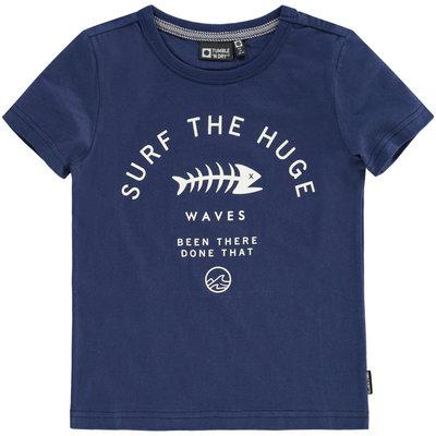 Tumble 'n dry Donkerblauwe T-shirt met visgraat 'denny'