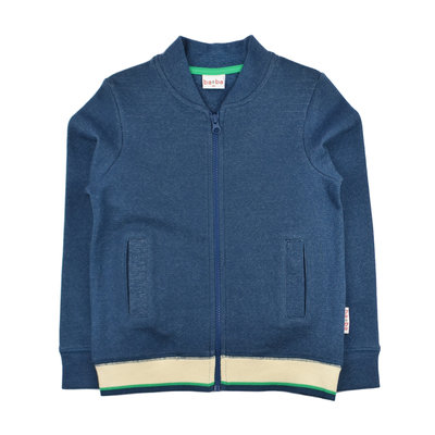 Baba-Babywear Blauwe jacquard bomber jacket