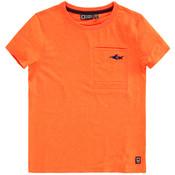 Tumble 'n dry Fluo-oranje T-shirt 'Dopi' met haai!