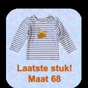 little label Blauw wit gestreepte longsleeve 'zwaan'
