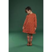 Lily Balou Oranje kleedje 'cilou' met vosjes