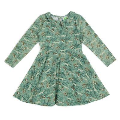 Lily Balou Groen kleedje 'Amelie' met wolven