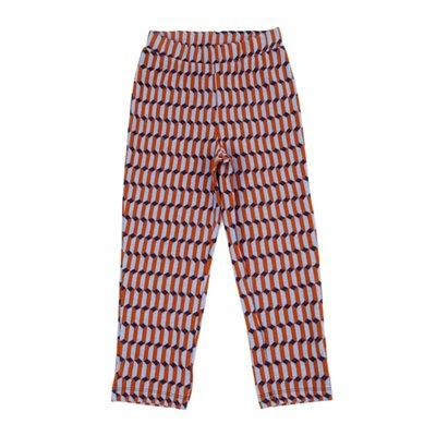 Lily Balou Lange broek met oranje/blauwe/beige hokjes