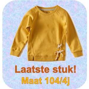 little label Sweater- yellow gold