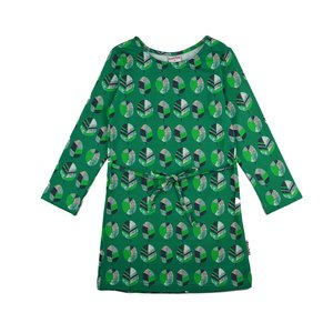 Baba-Babywear Kleedje met lange mouwen 'green leaf'