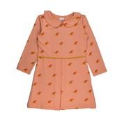 Baba-Babywear Roze kleedje met kraagje en vogeltjes