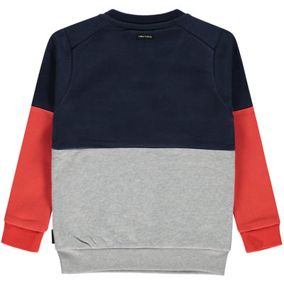 Tumble 'n dry Donkerblauwe/grijze sweater met opdruk