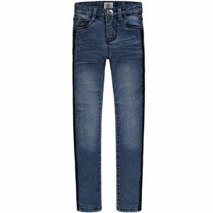 Tumble 'n dry Jeans 'pearl' met zwarte zijbiezen