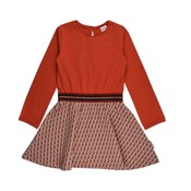 Baba-Babywear Elastic dress 'cubes-pink'