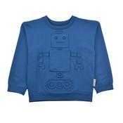 Baba-Babywear Blauwe sweater met een robot