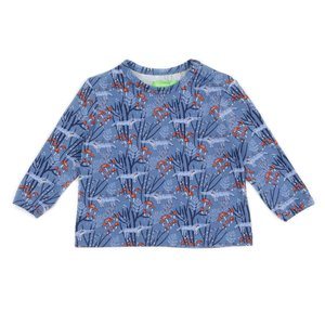 Lily Balou Francis baby T-shirt 'wolves blue'