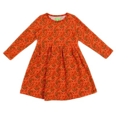 Lily Balou Oranje kleedje 'Anna' met vosjes