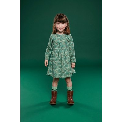 Lily Balou Groen kleedje 'Anna' met wolfjes