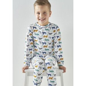 little label Pyjama met gekleurde luipaarden