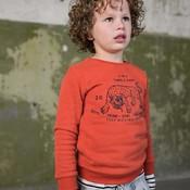 Tumble 'n dry Terracotta-oranje sweater met panter