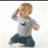 little label Groen babybroekje met koordje