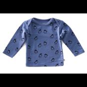 little label Blauwe longsleeve 'pinguin'