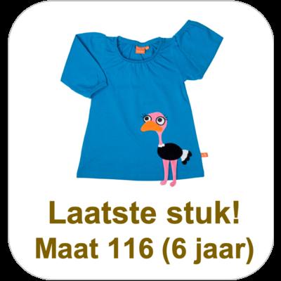 Lipfish Blauw kleedje 'struisvogel'