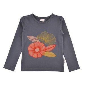 Baba-Babywear Longsleeve grey 'flower'