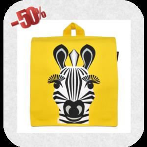 Coq en pâte Coq en pâte - Gele rugzak met een zebra