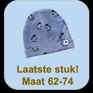 little label Blauw mutsje 'pinguin'