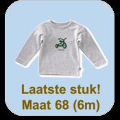 little label Gestreepte longsleeve met een fietsje