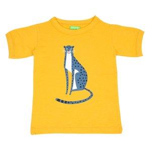 Lily Balou Gele T-shirt 'Morris' met een luipaard