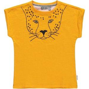 Tumble 'n dry Oker T-shirt 'Lia' met panter