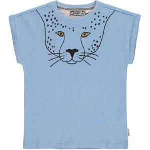 Tumble 'n dry Lichtblauwe T-shirt 'Lia' met panter