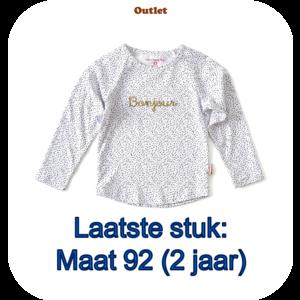 little label Raglan shirt 'bonjour'