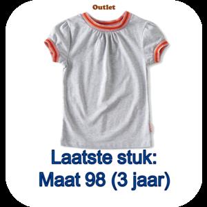 little label T-shirt contrast rib