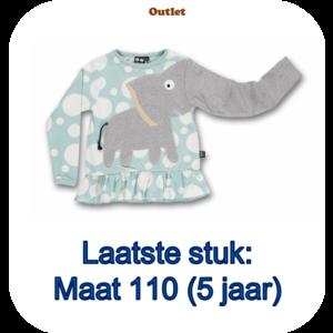 ubang Ubang - blauwe franje T-shirt met olifant