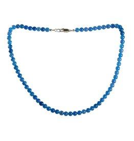 Agaat (blauw gekleurd) ketting 6 mm kralen