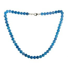 Agaat (blauw gekleurd) ketting 8 mm kralen