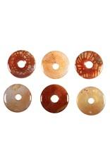 Agaat (fire crackle) hanger donut 3 cm
