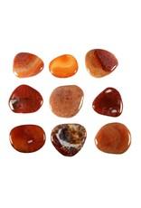 Agaat (fire crackle) steen plat gepolijst
