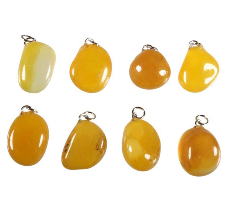 Agaat (geel) hanger