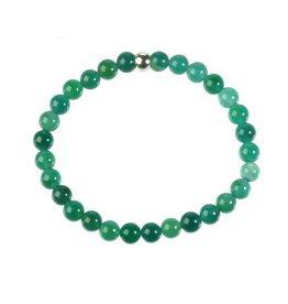 Agaat (groen gekleurd) armband 18 cm | 6 mm kralen