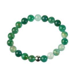 Agaat (groen) armband 18 cm | 8 mm kralen