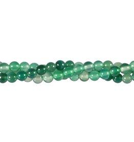 Agaat (groen gekleurd) kralen rond 6 mm (streng van 40 cm)