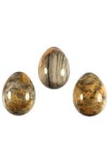 Agaat (kant) edelsteen ei 5 x 3,5 cm