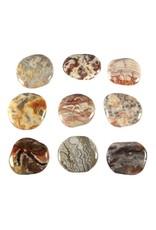 Agaat (kant) steen plat gepolijst