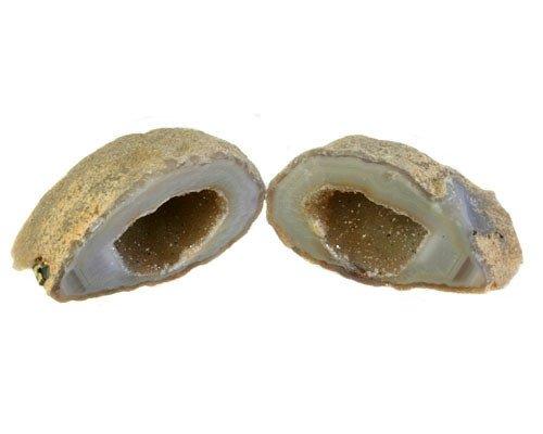 Agaat geode paar 3,5 x 3,5 tot 5 x 6 cm