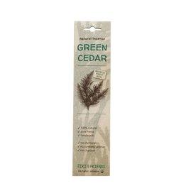 Wierook groene ceder | 15 stokjes | Jiri & friends