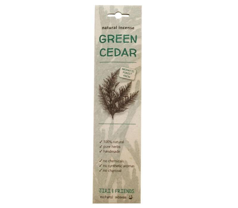 Wierook groene ceder   15 stokjes   Jiri & friends