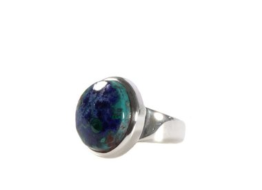 Azuriet-malachiet ringen